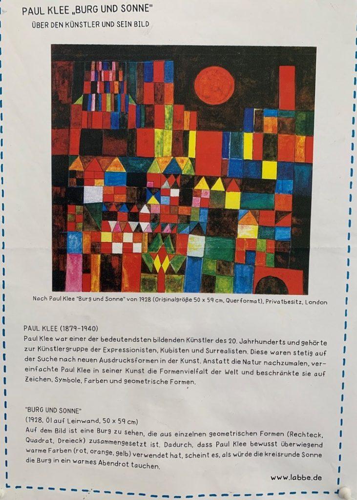 Pinguine 3b Kunstprojekt Zu Paul Klee Burg Und Sonne Schule Am Heikenberg